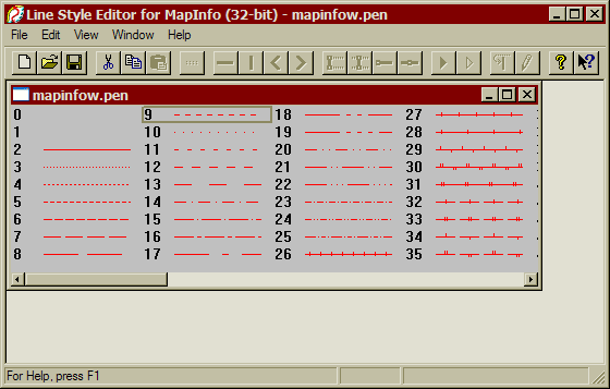 полигонов условным мапинфо заливка знаком