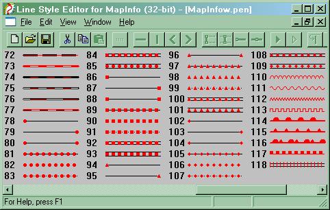 знаком заливка полигонов мапинфо условным